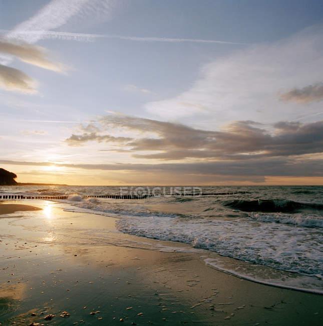 Praia na costa do mar Báltico em Bad Doberan — Fotografia de Stock