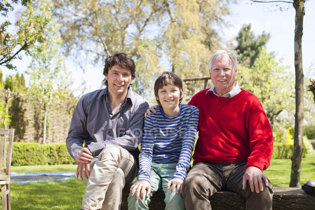 Portrait of three generation family — Stock Photo