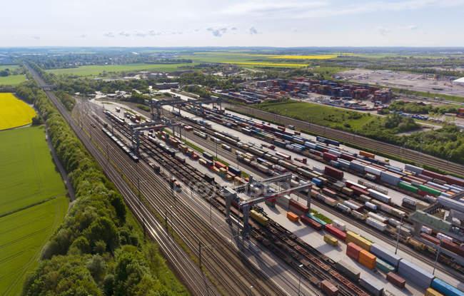 Вид на железнодорожный вокзал, Мюнхен, Бавария, Германия — стоковое фото