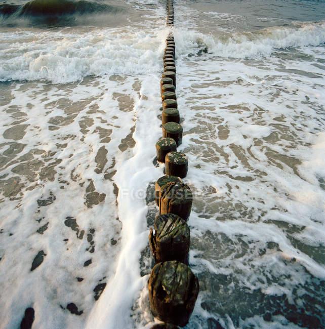 Paredão no mar de Báltico em Bad Doberan — Fotografia de Stock
