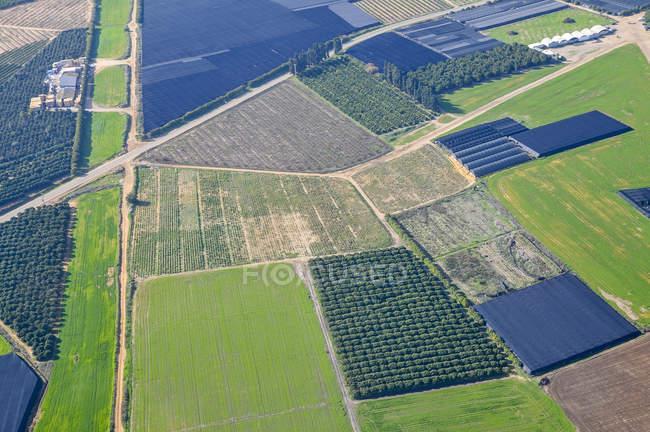Vista aérea do distrito de Sharon de avião, Israel — Fotografia de Stock