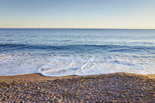 Scenic view of beach, French Riviera, Cannes, France — Stock Photo