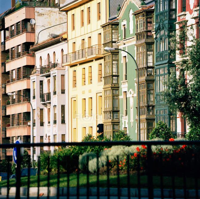 Apartment buildings in Oviedo, Asturias, Spain — Stock Photo