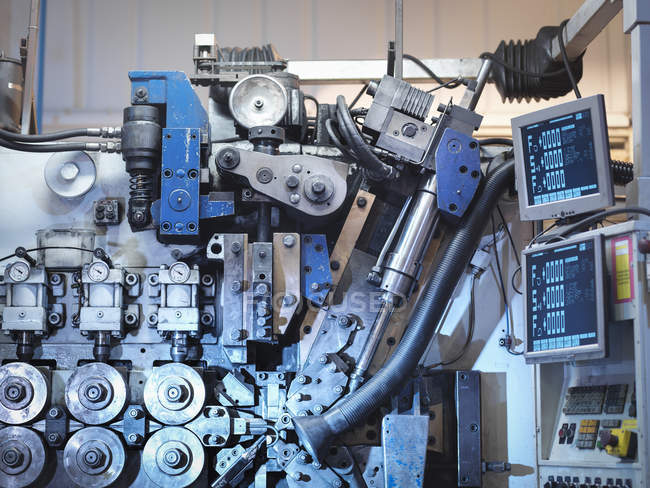 Machinery in automotive parts factory, detail — Stock Photo