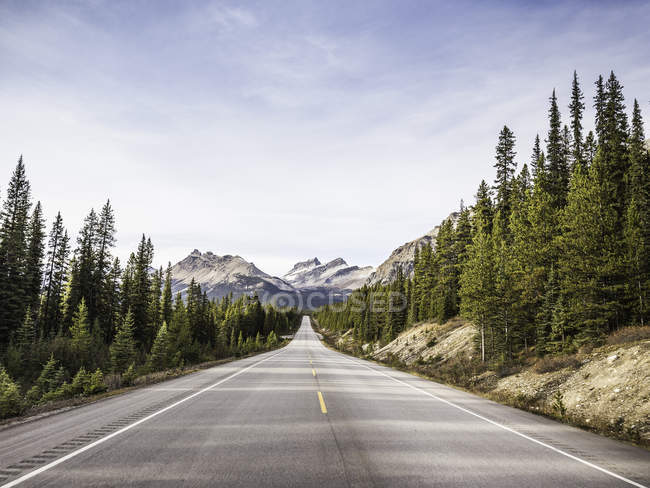 View of Icefields Parkway, Highway 93, Lake Louise, Alberta, Canada — Stock Photo