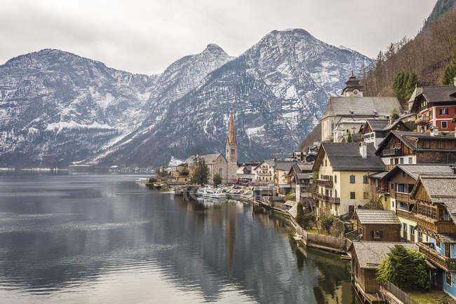 Ansicht der Hallstätter See Waterfront, Hallstatt, Österreich — Stockfoto