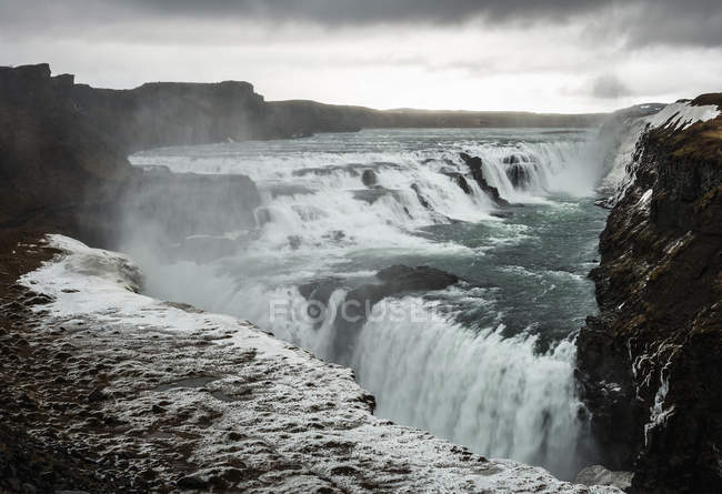 Scenic view of Gulfoss waterfall, Golden Circle, Iceland — Stock Photo