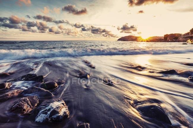 Scenic view of Coastal view, Cervo, Liguria, Italy — Stock Photo