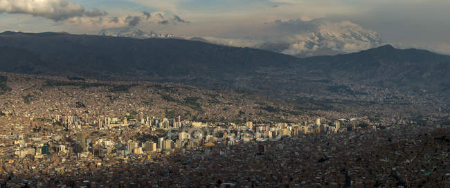 Panoramablick von La Paz aus El Alto, Bolivien, Südamerika — Stockfoto