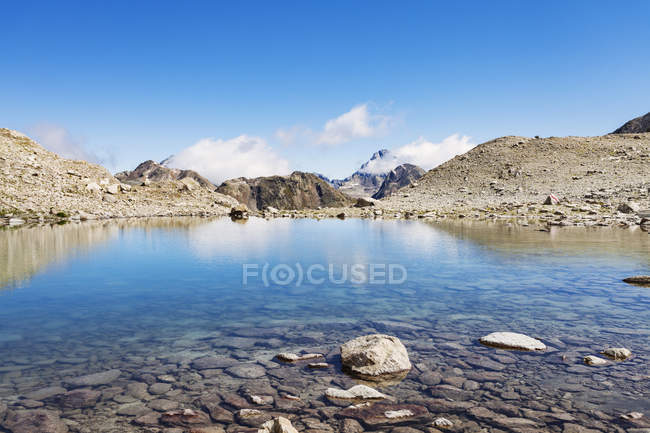 Mountain range, Davos, Graubunden, Switzerland — Stock Photo