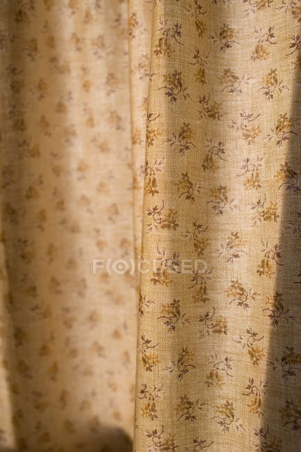 View of floral patterned curtain, close-up — Stock Photo