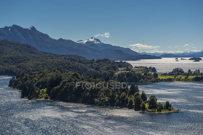 View of the Nahuel Huapi Lake and National Park, Bariloche, Rio Negro province, Patagonia, Argentina — Stock Photo