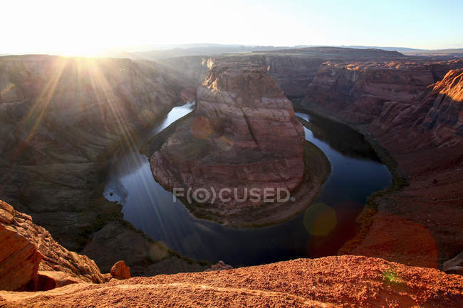 High angle view of horizon over land, usa — Stock Photo