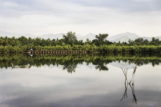 Vista lago, Gili Meno, Lombok, Indonesia — Foto stock