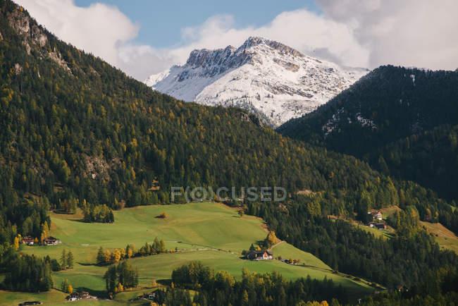 Val di Funes, Tyrol du Sud, Alpes Dolomites, Italie — Photo de stock