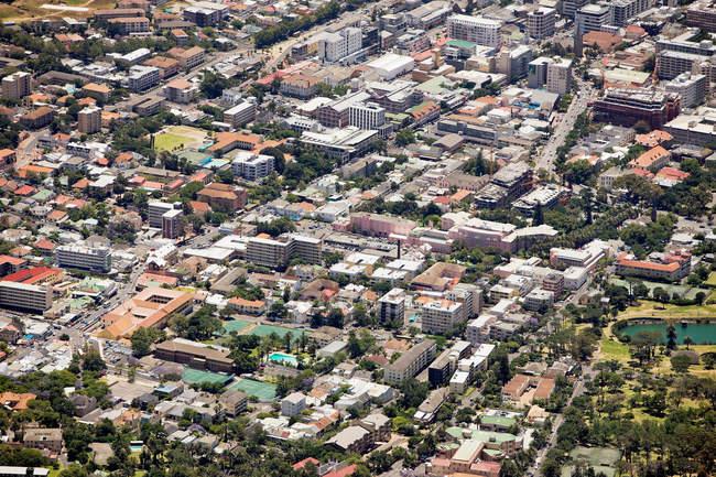 Luftaufnahme von Kapstadt Stadtbild — Stockfoto
