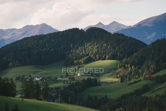 Santa Maddalena, Val di Funes, vale de Funes, Alpes Dolomitas, Itália — Fotografia de Stock