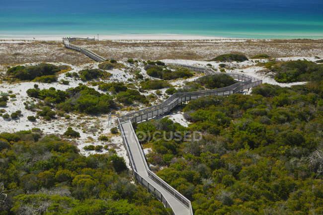 Lungomare, Parco nazionale di Henderson, Destin, Florida, Stati Uniti — Foto stock
