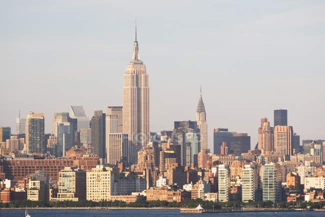 Manhattan skyline, Nova Iorque, EUA — Fotografia de Stock