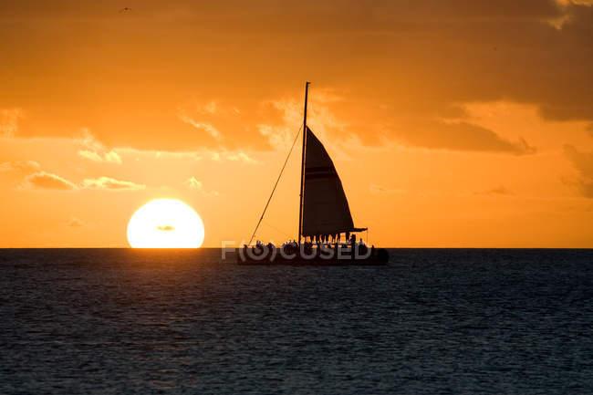 Weitwinkel des Sonnenuntergangs im zentralen Westen, vereinigte Staaten von Amerika — Stockfoto