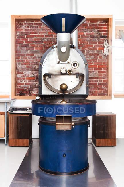 Close up of Coffee roasting machine — Stock Photo