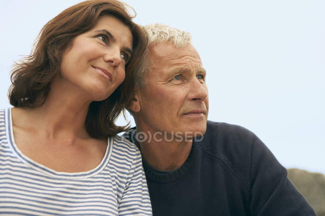 Middle aged couple head and shoulders — Stock Photo