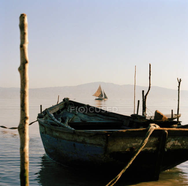 Local wooden boats — Stock Photo