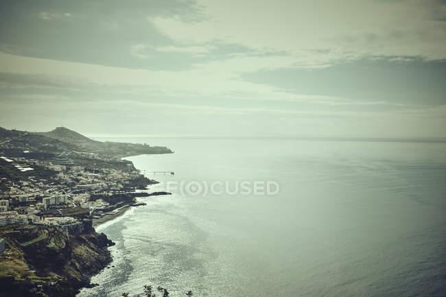 Vista elevada do litoral, Madeira, Cabo Girao, Portugal — Fotografia de Stock