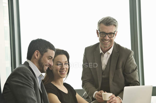 Business partners working together in office — Stock Photo