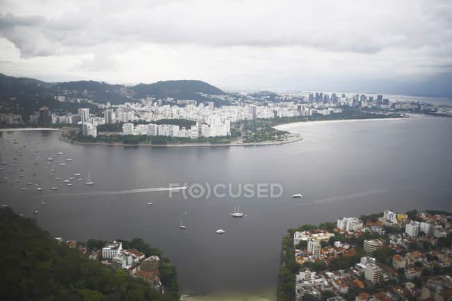 Vue sur Rio De Janeiro du Mont du pain de sucre, Brésil — Photo de stock