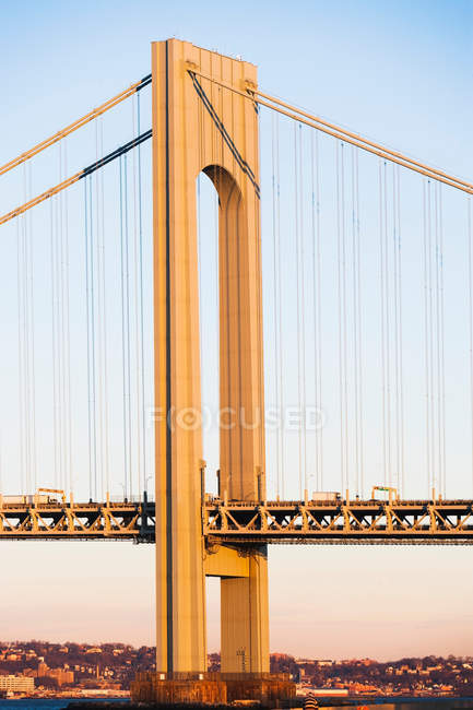 Architektonisches Detail der Verrazano-schmaler Brücke, New York City, USA — Stockfoto