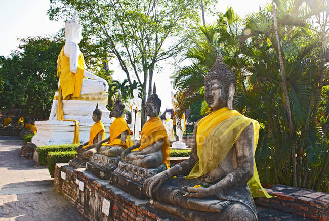 Seitenansicht des Wat Yai Chaya mongkol — Stockfoto