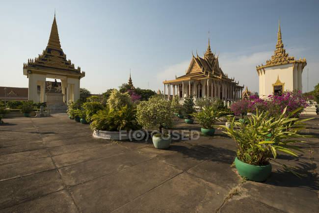 Templos de Phnom Penh, Camboja, Indochina, Ásia — Fotografia de Stock