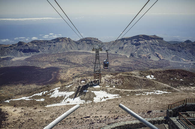 Cable car on mount Teide — Stock Photo
