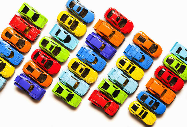 Colorful toy cars — Stock Photo