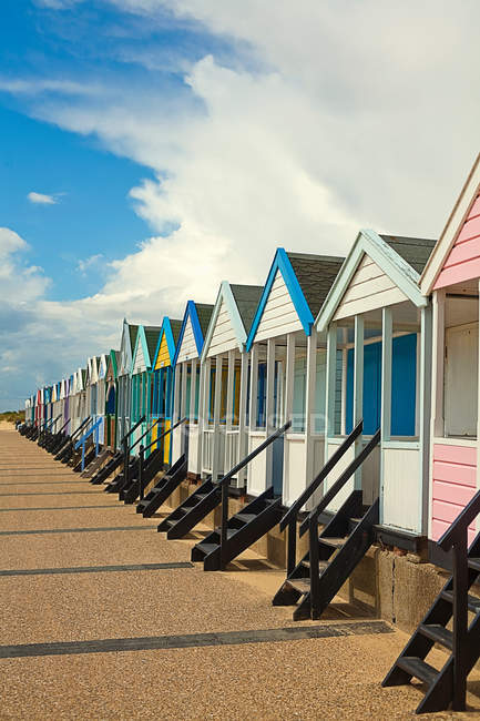 Beach huts in Southwold — Stock Photo