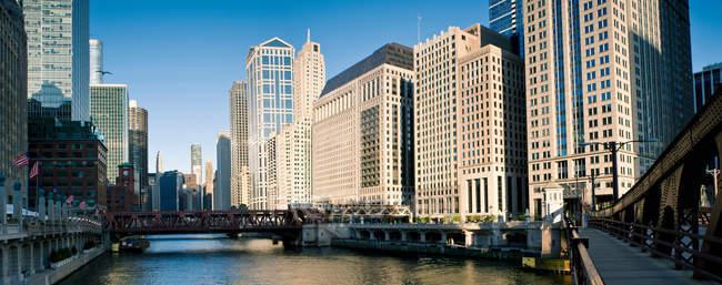 Петля центру міста Чикаго — стокове фото