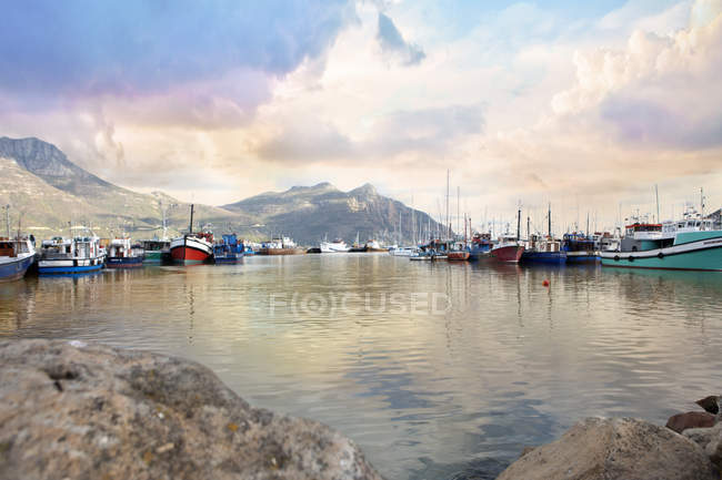 Picturesque view of boats — Stock Photo