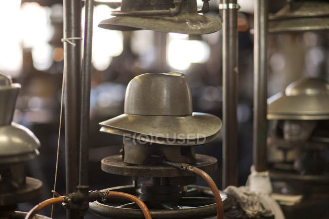 Panama hat mould in milliners workshop — Stock Photo