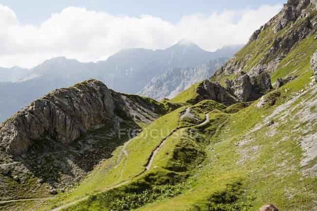 Scenic view of Schanfigg, Graubuenden, Switzerland — Stock Photo