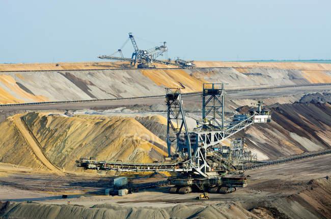 Opencast brown coal mining — Stock Photo