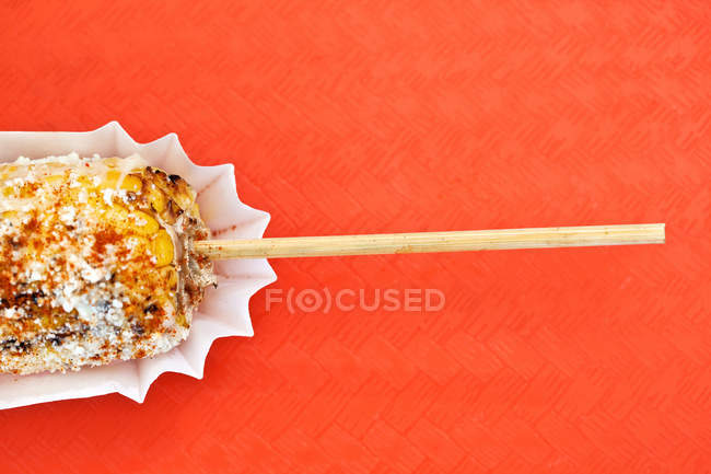 Grilled cuban corn — Stock Photo