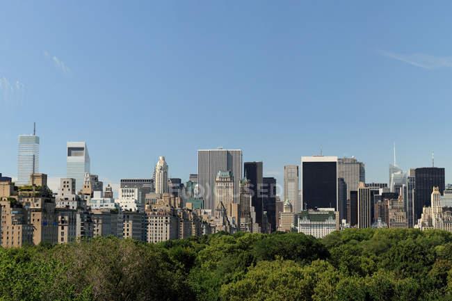 Vista à distância do Parque Urbano em Nova York — Fotografia de Stock