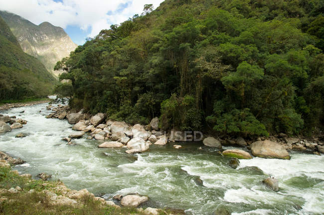 View on river from Aguas Calientes — Stock Photo