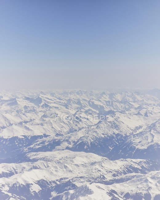Luftaufnahme der deutschen Alpen — Stockfoto
