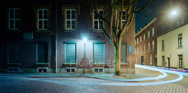 Time lapse vista del traffico notturno nei Paesi Bassi — Foto stock