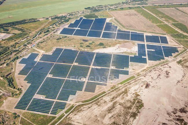 Senftenberg Solarpark, photovoltaic power plant — Stock Photo