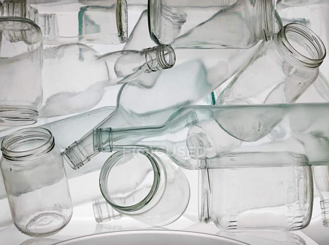 Vasetti e bottiglie vuoti, radiografia — Foto stock