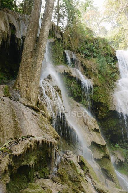 Waterfall and rocks, Luang Prabang, Laos — Stock Photo