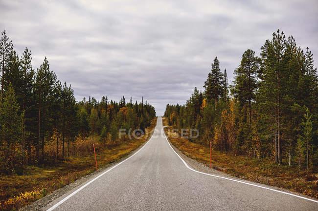 Мальовничої порожній дороги Keimiotunturi, тихий, Фінляндія — стокове фото